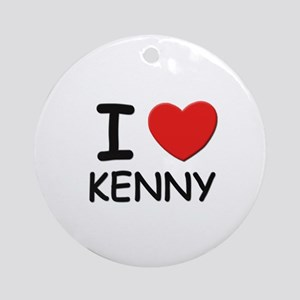 I love Kenny Ornament (Round)