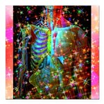 """Beaming Up Square Car Magnet 3"""" x 3"""""""