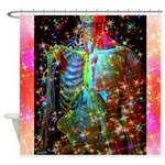 Beaming Up Shower Curtain