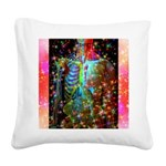 Beaming Up Square Canvas Pillow