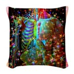 Beaming Up Woven Throw Pillow