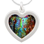 Beaming Up Silver Heart Necklace
