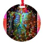 Beaming Up Round Ornament