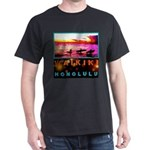 Waikiki Three Wise Surfers Dark T-Shirt