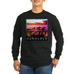 Waikiki Three Wise Surfers Long Sleeve Dark T-Shir