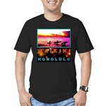 Waikiki Three Wise Surfers Men's Fitted T-Shirt (d