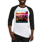 Waikiki Three Wise Surfers Baseball Jersey