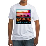 Waikiki Three Wise Surfers Fitted T-Shirt