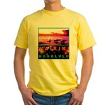 Waikiki Three Wise Surfers Yellow T-Shirt