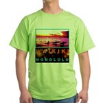Waikiki Three Wise Surfers Green T-Shirt