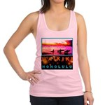 Waikiki Three Wise Surfers Racerback Tank Top