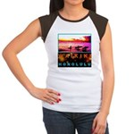 Waikiki Three Wise Surfers Women's Cap Sleeve T-Sh