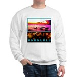 Waikiki Three Wise Surfers Sweatshirt