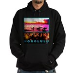 Waikiki Three Wise Surfers Hoodie (dark)