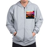 Waikiki Three Wise Surfers Zip Hoodie