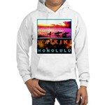 Waikiki Three Wise Surfers Hooded Sweatshirt