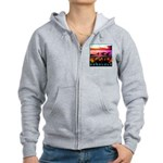 Waikiki Three Wise Surfers Women's Zip Hoodie
