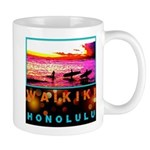 Waikiki Three Wise Surfers Mug