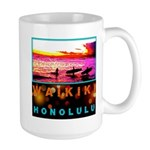 Waikiki Three Wise Surfers Large Mug