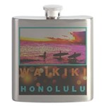 Waikiki Three Wise Surfers Flask
