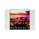 Waikiki Three Wise Surfers Rectangle Magnet (100 p