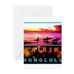 Waikiki Three Wise Surfers Greeting Card