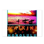 Waikiki Three Wise Surfers Postcards (Package of 8