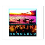 Waikiki Three Wise Surfers Small Poster