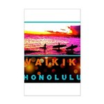 Waikiki Three Wise Surfers Mini Poster Print