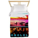 Waikiki Three Wise Surfers Twin Duvet