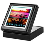 Waikiki Three Wise Surfers Keepsake Box