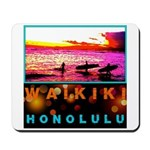 Waikiki Three Wise Surfers Mousepad