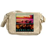 Waikiki Three Wise Surfers Messenger Bag