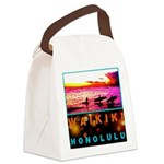 Waikiki Three Wise Surfers Canvas Lunch Bag