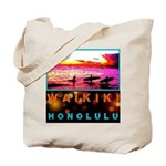 Waikiki Three Wise Surfers Tote Bag
