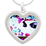 HRH Duchess SisterFace Silver Heart Necklace