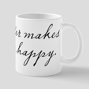 Cider makes me happy Mug