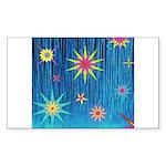 StarBurst Sticker (Rectangle 50 pk)