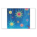 StarBurst Sticker (Rectangle)