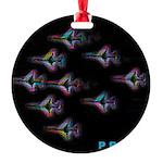 LGBT Military Pride Round Ornament