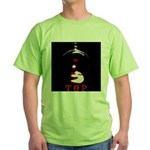 Leather Top Man Green T-Shirt