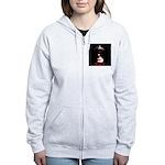 Leather Top Man Women's Zip Hoodie