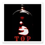 Leather Top Man Square Car Magnet 3