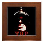 Leather Top Man Framed Tile