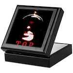 Leather Top Man Keepsake Box