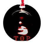 Leather Top Man Round Ornament