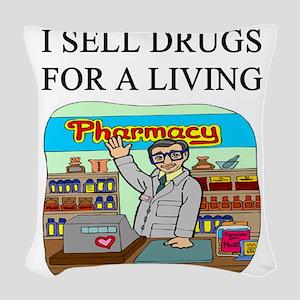 funny pharmacist joke gifts t-shirts Woven Throw P