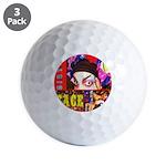 Drag Diva HRHSF Designs Golf Balls