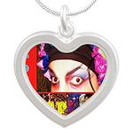 Drag Diva HRHSF Designs Silver Heart Necklace