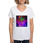 Mystic Skeletal Soul Women's V-Neck T-Shirt